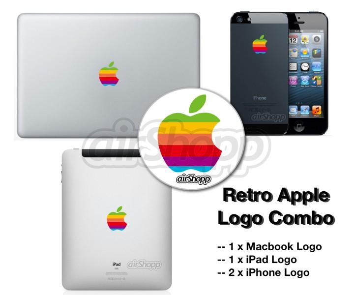 Retro Apple Logo Combo for MacBook iPad iPhone