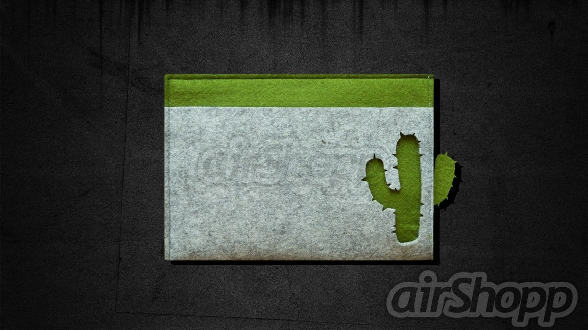 Cactus Ribbon-Pull 13 inch Macbook Felt Sleeve