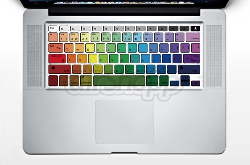 Rainbow MacBook Air Keyboard Decal