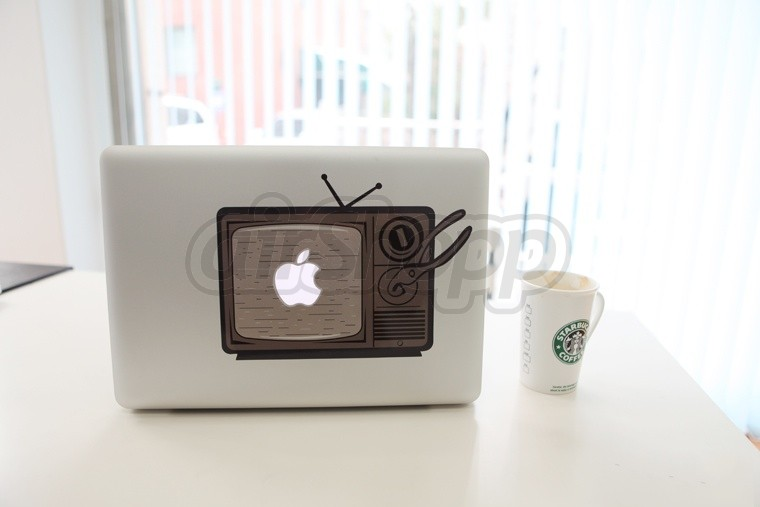 TV MacBook Decal
