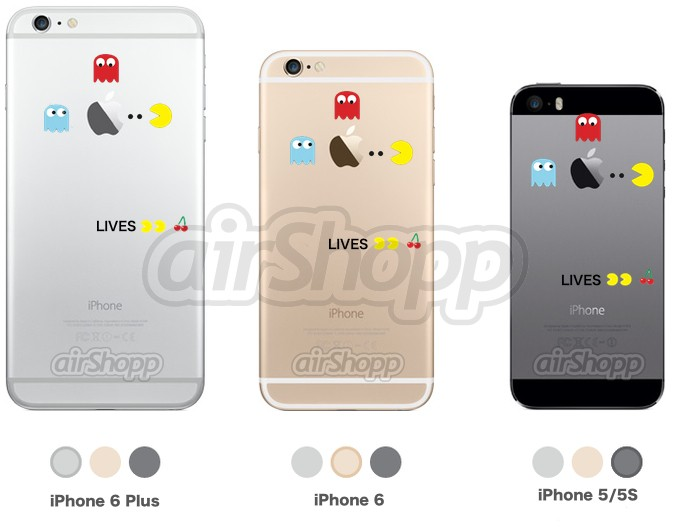 Pacman iPhone Decal