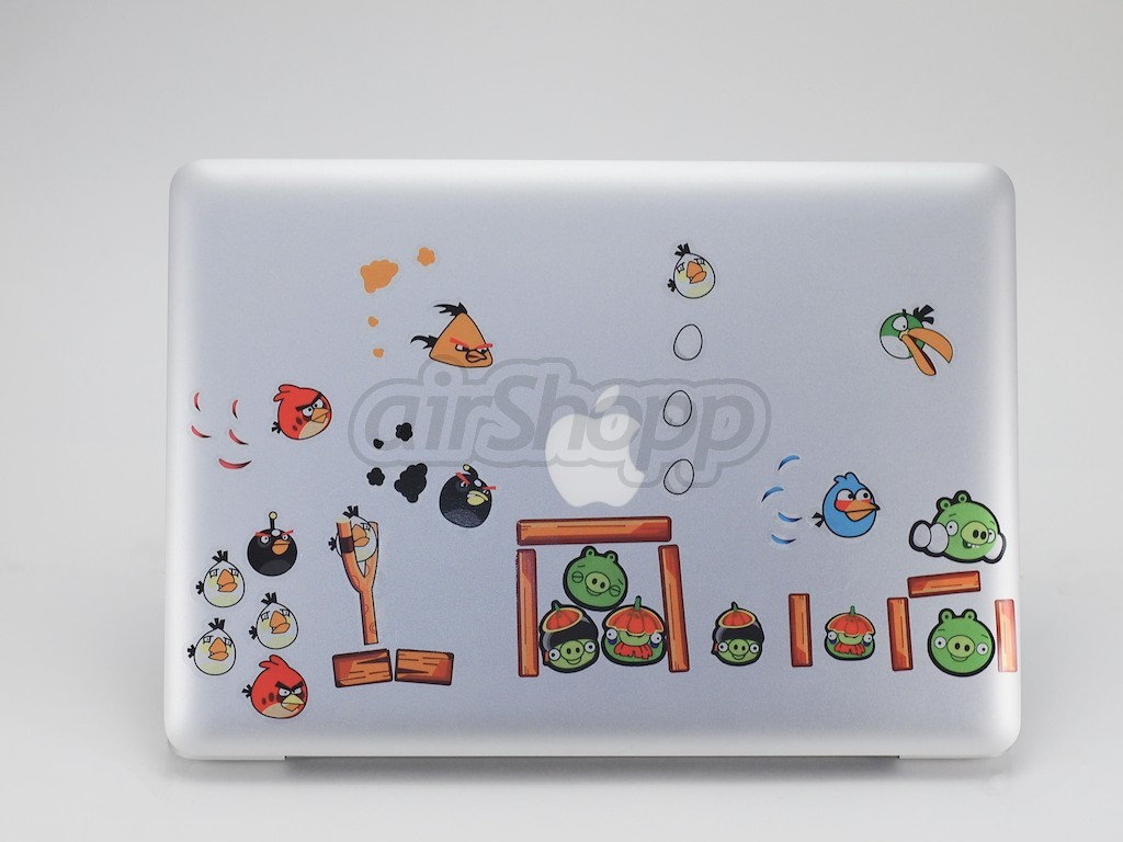 Angry Birds MacBook Decal