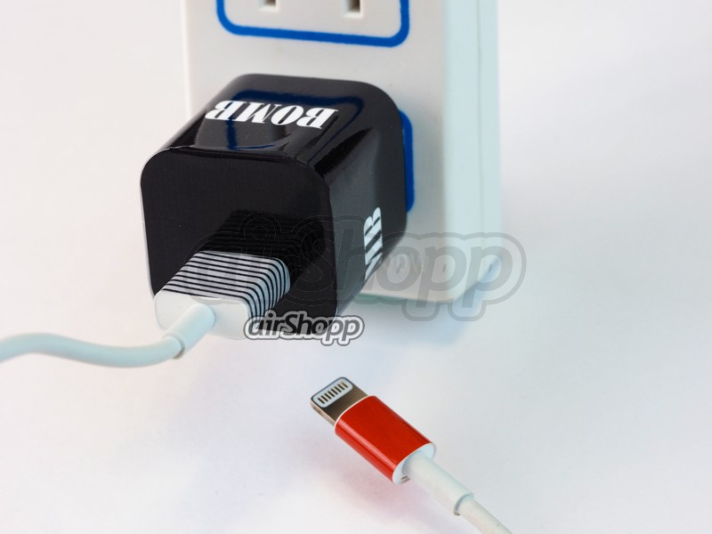 iPhone USB Charger Decal  V4