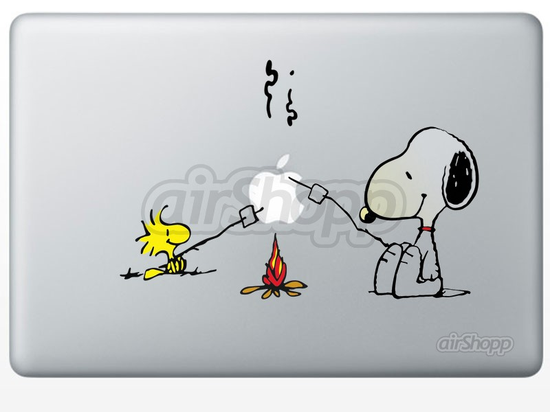 Snoopy Barbecue Campfire MacBook Decal