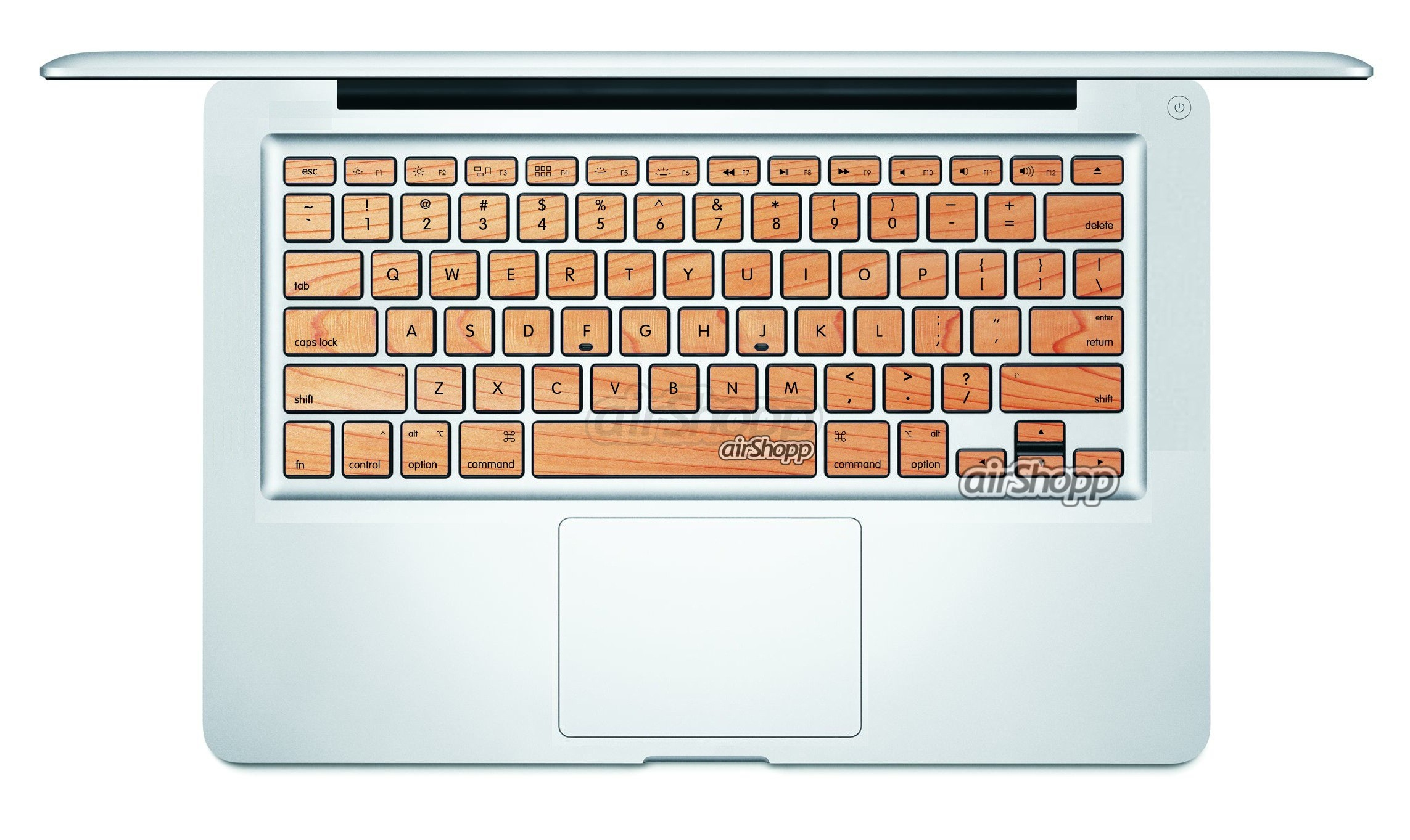 Wood Style MacBook Keyboard Decal