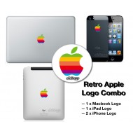 Retro Apple Logo Combo for MacBook iPad iPhone