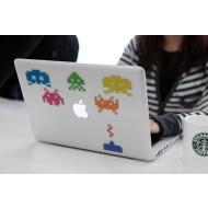 Space Invaders MacBook Decal