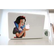 Snow White Left MacBook Decal
