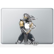Mortal Combat Smoke MacBook Decal
