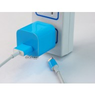 iPhone USB Charger Decal Blue