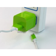 iPhone USB Charger Decal Green