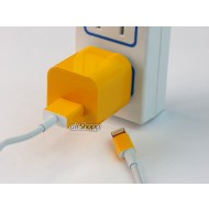 iPhone USB Charger Decal Yellow