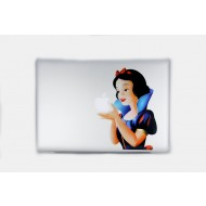 Snow White Right MacBook Decal