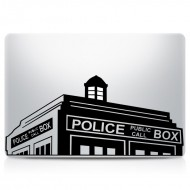 Dr. Who Tardis Police Station MacBook Decal