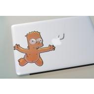 Bart Simpson MacBook Decal