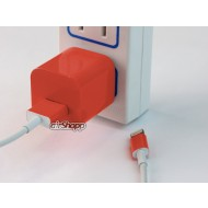 iPhone USB Charger Decal Pink